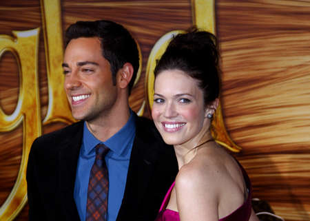 levi: Zachary Levi and Mandy Moore at the Los Angeles premiere of Tangled held at the El Capitan Theater in Hollywood on November 14, 2010. Editorial