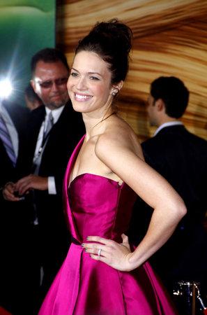 2010年11月14日、アメリカ・ハリウッドのエル・キャピタン劇場で開催された「もつれた」ロサンゼルスプレミアのマンディ・ムーア。