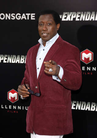 Wesley Snipes at the Los Angeles premiere of The Expendables 3 held at the TCL Chinese Theatre in Los Angeles, USA on August 11, 2014. Editorial