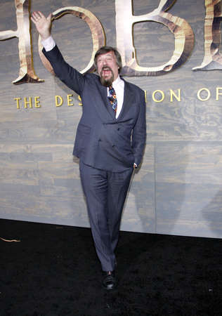 desolation: Stephen Fry at the Los Angeles premiere of The Hobbit: The Desolation Of Smaug held at the Dolby Theatre in Los Angeles, USA on December 2, 2013.