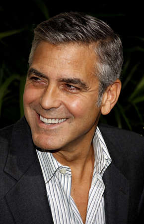 George Clooney at the Los Angeles premiere of The Descendants held at the AMPAS Samuel Goldwyn Theater in Beverly Hills on November 15, 2011.