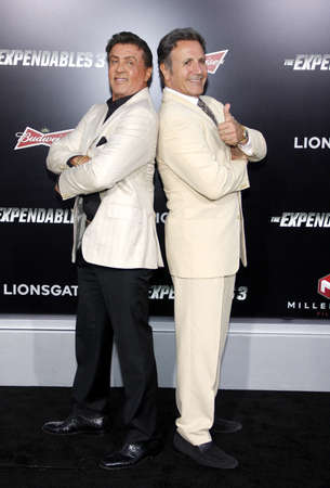 sylvester: Sylvester Stallone and Frank Stallone at the Los Angeles premiere of The Expendables 3 held at the TCL Chinese Theatre in Los Angeles, USA on August 11, 2014.
