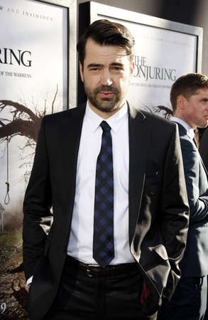 conjuring: Ron Livingston at the Los Angeles premiere of The Conjuring held at the Cinerama Dome in Hollywood, USA on July 15, 2013.