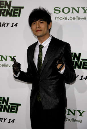 green jay: Jay Chou at the Los Angeles premiere of The Green Hornet held at the Graumans Chinese Theatre in Hollywood on January 10, 2010. Editorial