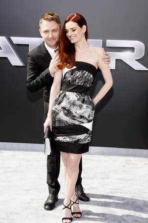 terminator: Chris Hardwick and Lydia Hearst at the Los Angeles premiere of Terminator Genisys held at the Dolby Theatre in Hollywood, USA on June 28, 2015.