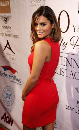 crustacean: Pia Toscano at the City of Beverly Hills Centennial Anniversary held at the Crustacean in Los Angeles, USA on February 5, 2014.