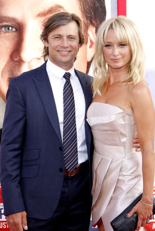 katherine: Grant Show and Katherine LaNasa at the Los Angeles premiere of Campaign held at the Graumans Chinese Theater in Hollywood on August 2, 2012.