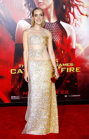 malone: Jena Malone at the Los Angeles premiere of The Hunger Games: Catching Fire held at the Nokia Theatre L.A. Live in Los Angeles, USA on November 18, 2013.