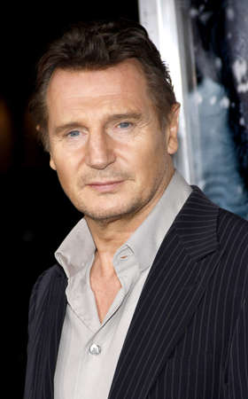 Liam Neeson at the Los Angeles premiere of The Grey held at the Regal Cinemas L.A. Live in Los Angeles on January 11, 2012. Редакционное
