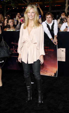 Heather Locklear at the Los Angeles premiere of The Twilight Saga: Breaking Dawn Part 1 held at the Nokia Theatre L.A. Live in Los Angeles on November 14, 2011.