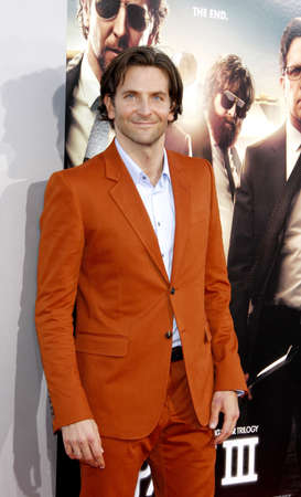 cooper: Bradley Cooper at the Los Angeles premiere of The Hangover Part III held at the Mann Village Theater in Los Angeles, United States, 200513.