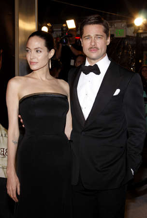 brad pitt: Brad Pitt and Angelina Jolie at the Los Angeles premiere of The Curious Case Of Benjamin Button held at the Manns Village Theater  in Westwood on December 8, 2008.