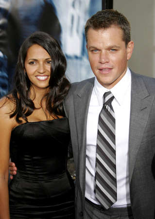 bourne: Matt Damon and wife Luciana Damon at the Los Angeles premiere of The Bourne Ultimatum held at the ArcLight Cinemas in Hollywood, USA on July 25, 2007.
