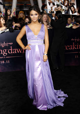 amanecer: Fivel Stewart at the Los Angeles premiere of The Twilight Saga: Breaking Dawn Part 1 held at the Nokia Theatre L.A. Live in Los Angeles on November 14, 2011.