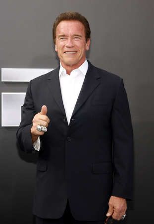 Arnold Schwarzenegger at the Los Angeles premiere of Terminator Genisys held at the Dolby Theatre in Hollywood, USA on June 28, 2015. Redakční