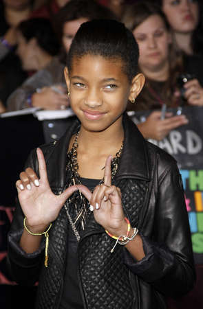 amanecer: Willow Smith at the Los Angeles premiere of The Twilight Saga: Breaking Dawn Part 1 held at the Nokia Theatre L.A. Live in Los Angeles on November 14, 2011.