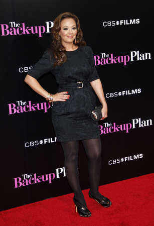 leah: Leah Remini at the Los Angeles premiere of The Back-Up Plan held at the Regency Village Theatre in Westwood on April 21, 2010. Editorial