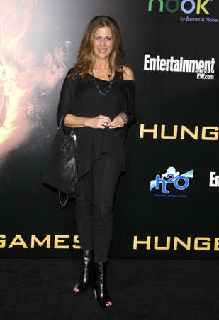 wilson: Rita Wilson at the Los Angeles premiere of The Hunger Games held at the Nokia Theatre L.A. Live in Los Angeles on March 12, 2012.