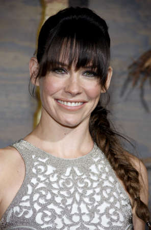 desolation: Evangeline Lilly at the Los Angeles premiere of The Hobbit: The Desolation Of Smaug held at the Dolby Theatre in Los Angeles, USA on December 2, 2013.