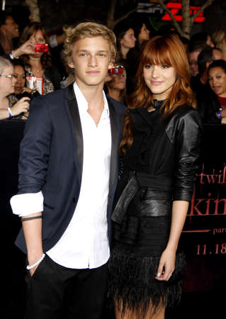 cody: Cody Simpson and Bella Thorne at the Los Angeles premiere of The Twilight Saga: Breaking Dawn Part 1 held at the Nokia Theatre L.A. Live in Los Angeles on November 14, 2011.