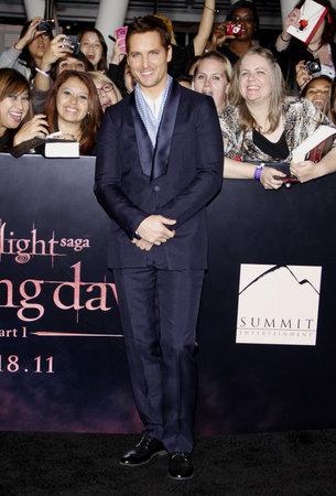 amanecer: Peter Facinelli en el estreno de Los �ngeles de 'La Saga Crep�sculo: Amanecer Parte 1' celebrada en el Nokia Theatre LA Live en Los Angeles el 14 de noviembre de 2011.