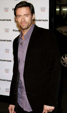 hugh: Hugh Jackman at the Los Angeles premiere of The Fountain held at the Graumans Chinese Theatre in Hollywood on November 11, 2006. Editorial