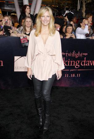 amanecer: Heather Locklear en la premier de Los Ángeles de 'La Saga Crepúsculo: Amanecer Parte 1' celebrada en el Nokia Theatre LA Live en Los Angeles el 14 de noviembre de 2011.