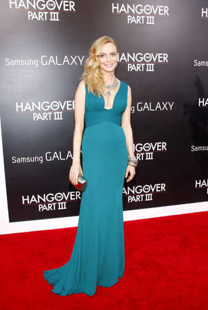 Heather Graham at the Los Angeles premiere of The Hangover Part III held at the Mann Village Theater in Los Angeles, United States, 200513.