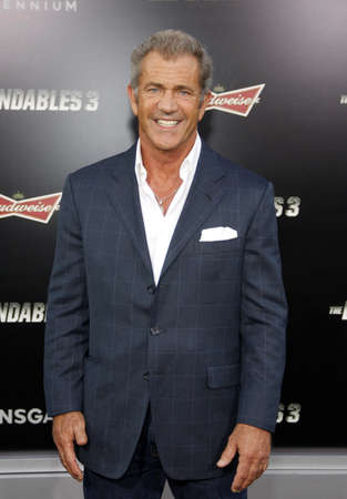 Mel Gibson at the Los Angeles premiere of The Expendables 3 held at the TCL Chinese Theatre in Los Angeles, USA on August 11, 2014.