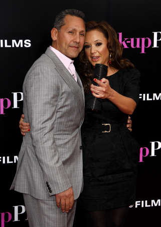 leah: Leah Remini and Angelo Pagan at the Los Angeles premiere of The Back-Up Plan held at the Regency Village Theatre in Westwood on April 21, 2010. Editorial