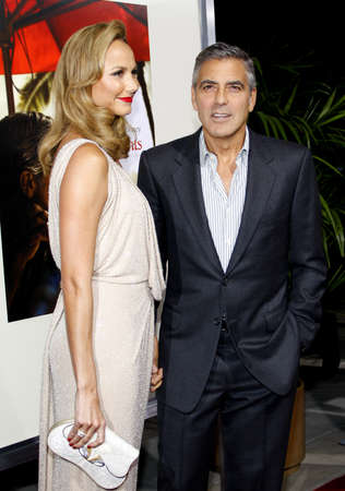 ステイシーキーブラーとカリフォルニア州ロサンゼルスでジョージ ・ クルーニーは、2011 年 11 月 15 日にビバリーヒルズのアカデミーのサミュエル