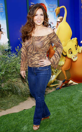 3d lion: Maria Canals-Barrera at the Los Angeles premiere of The Lion King 3D held at the El Capitan Theater in Hollywood, USA on August 27, 2011.
