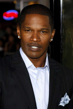 Jamie Foxx at the Los Angeles premiere of 'The Kingdom' held at the Mann Village Theater in Westwood, USA on September 17, 2007.