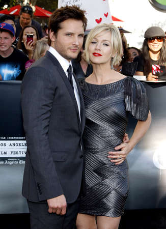 garth: Peter Facinelli and Jennie Garth at the Los Angeles premiere of The Twilight Saga: Eclipse held at the Nokia Theatre L.A. Live in Los Angeles on June 24, 2010.