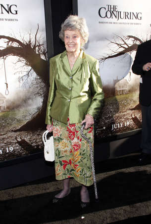 warren: Lorraine Warren at the Los Angeles premiere of The Conjuring held at the Cinerama Dome in Hollywood, USA on July 15, 2013.
