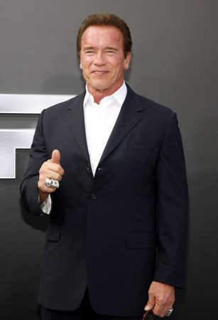 Arnold Schwarzenegger at the Los Angeles premiere of Terminator Genisys held at the Dolby Theatre in Hollywood, USA on June 28, 2015. Editorial