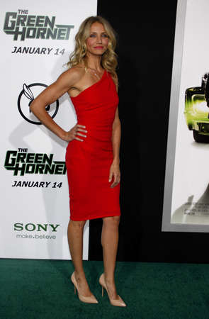 Cameron Diaz at the Los Angeles premiere of The Green Hornet held at the Graumans Chinese Theatre in Hollywood on January 10, 2010.