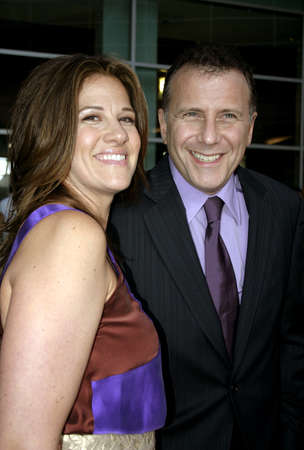 Paul Reiser and wife Paula at the Los Angeles premiere of The Thing About My Folks held at the Arclight in Hollywood, USA on September 7, 2005. Editorial