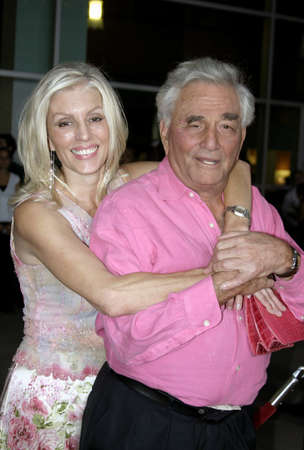 Peter Falk and Shera Danese at the Los Angeles premiere of The Thing About My Folks held at the Arclight in Hollywood, USA on September 7, 2005.