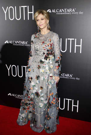 jane: Jane Fonda at the Los Angeles premiere of 'Youth' held at the DGA Theatre in Hollywood, USA on November 17, 2015. Editorial