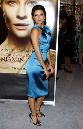 Eva Longoria at the Los Angeles premiere of The Curious Case Of Benjamin Button held at the Manns Village Theater  in Westwood on December 8, 2008.
