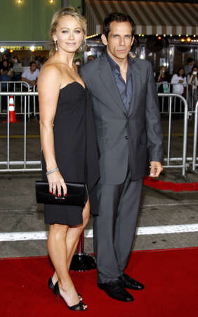 christine: Ben Stiller and Christine Taylor at the Los Angeles premiere of The Heartbreak Kid held at the Mann Village Theater in Westwood, USA on September 27, 2007.