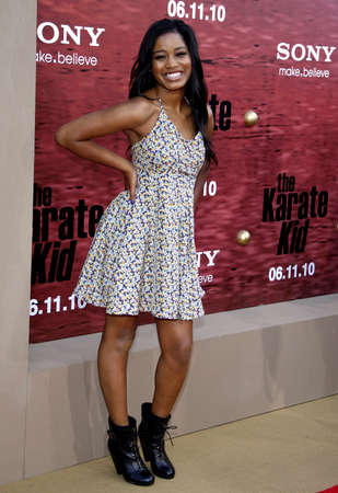 palmer: Keke Palmer at the Los Angeles premiere of The Karate Kid held at the Mann Village Theater in Westwood, USA on June 7, 2010.
