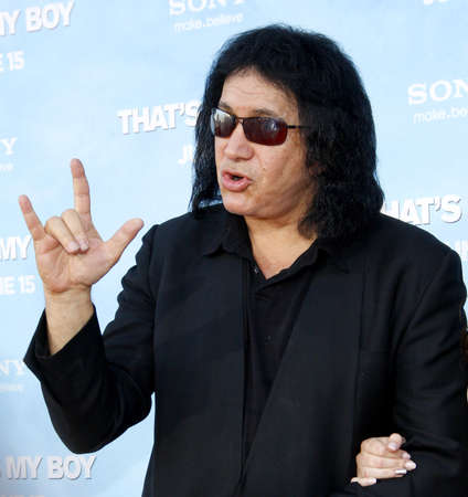 Gene Simmons at the Los Angeles premiere of 'That's My Boy' held at the Westwood Village Theater in Los Angeles, USA on June 4, 2012. Редакционное