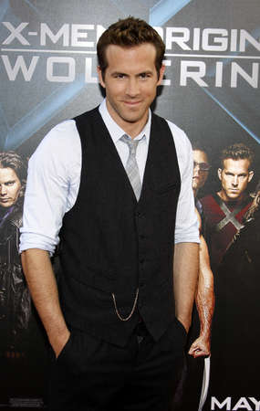 Ryan Reynolds at the Los Angeles premiere of X-Men Origins: Wolverine held at the Graumans Chinese Theatre in Hollywood on April 28, 2009. Editorial