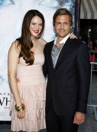 barrett: Gabriel Macht and Jacinda Barrett at the Los Angeles premiere of Whiteout held at the Mann Village Theatre in Westwood on September 9, 2009.