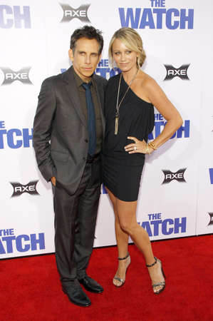 christine: Ben Stiller and Christine Taylor at the Los Angeles premiere of The Watch held at the Graumans Chinese Theatre in Hollywood on July 23, 2012. Editorial
