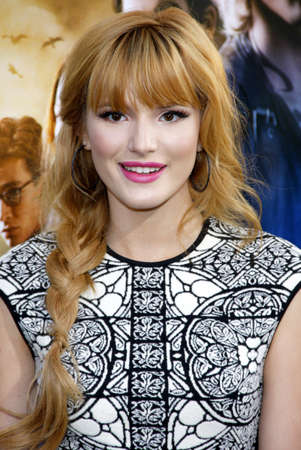 mortal: Bella Thorne at the Los Angeles premiere of The Mortal Instruments: City Of Bones held at the Cinerama Dome in Hollywood, USA on August 12, 2013. Editorial