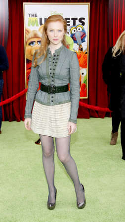 molly: HOLLYWOOD, CA  - NOVEMBER 12, 2011. Molly C. Quinn at the World premiere of 'The Muppets' held at El Capitan Theater in Hollywood, USA on November 12, 2011.