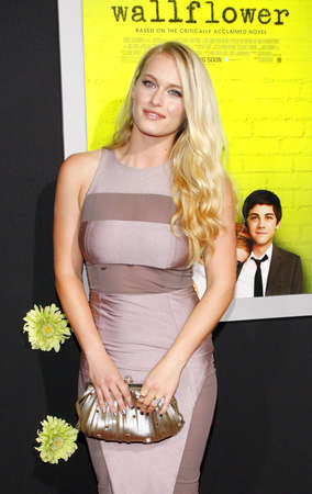 perks: Leven Rambin at the Los Angeles premiere of The Perks Of Being A Wallflower held at the ArcLight Cinemas in Hollywood on September 10, 2012. Editorial